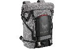 "PREDATOR GAMING ROLLTOP BACKPACK 15.6"" GRAY BLACK"