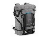 """Acer 15.6"""" Predator Rolltop Backpack, Gray n Teal Blue"""